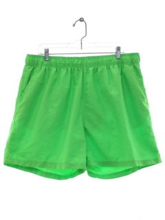 1980's Mens Totally 80s Style Neon Swim Shorts