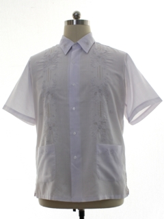 1980's Mens Sheer Hand Embroidered Hippie Shirt