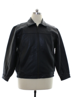 1980's Mens Leather Bomber Style Jacket