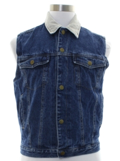 1980's Mens or Boys Denim Vest