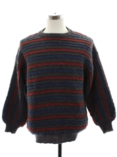1980's Mens Salvatore Ferragamo Designer Mohair Blend Sweater