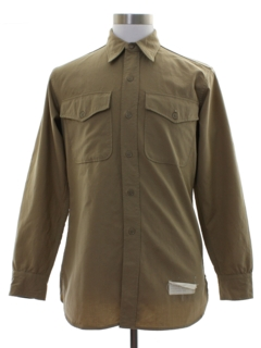1950's Mens Military Uniform Work Shirt