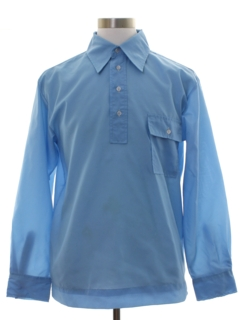 1970's Mens Solid Ski Shirt