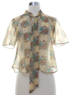 1970's Womens Sheer Shirt