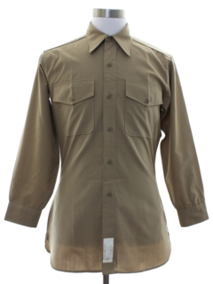 1960's Mens Military US Marines Uniform Work Shirt