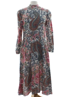 1970's Womens Paisley Hippie Dress