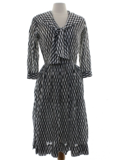 1960's Womens Sheer Mod Dress