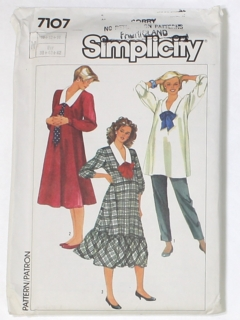 1980's Womens Maternity Sewing Pattern