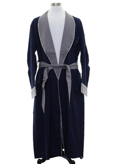 1950's Mens Gabardine Smoking Jacket Style Robe