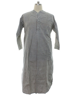 1950's Mens Flannel Nightshirt Pajamas