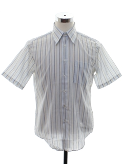 1960's Mens Striped Mod Shirt