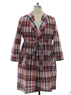 1960's Mens Plaid Robe
