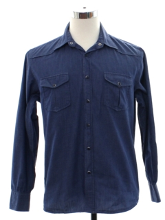 1990's Mens Solid Western Shirt