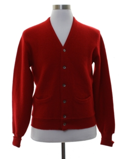 1960's Mens Wool Mod Golf Sweater
