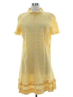 1960's Womens Mod A-Line Mini Dress
