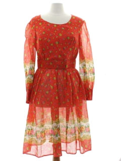 1960's Womens Dirndl Inspired Dress