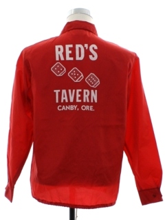 1970's Mens Reds Tavern Windbreaker Zip Jacket