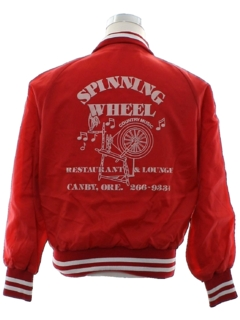 1980's Mens Baseball Style Snap Jacket