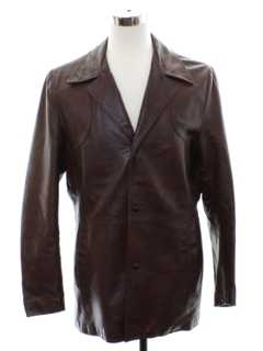 1970's Mens Duece Style Leather Jacket