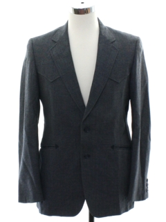 1980's Mens Totally 80s Western Style Blazer Sportcoat Jacket