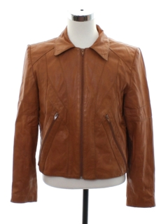 1970's Mens Mod Leather Jacket