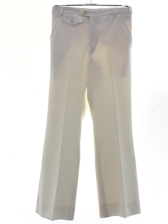 1970's Mens Polyester Flared Bellbottom Disco Pants