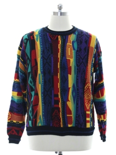 1980's Mens Totally 80s Look Coogi Inspired Cosby Style Sweater