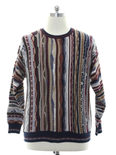 1980's Mens Totally 80s Coogi Inspired Cosby Style Sweater