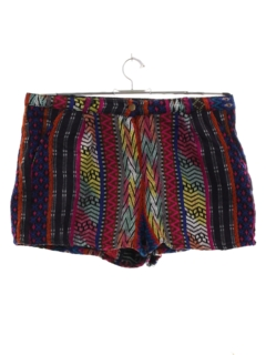 1980's Womens Tapestry Cloth Hippie Shorts