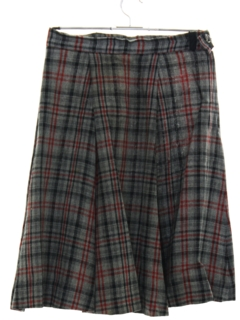 1960's Womens Blended Wool Plaid Skirt
