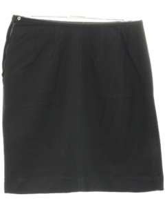 1970's Womens Black Wool Skirt