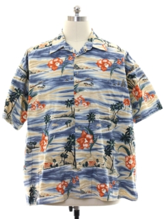 1980's Mens Pierre Cardin Hawaiian Style Shirt
