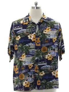 1990's Mens UC Berkeley Rayon Hawaiian Shirt