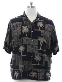 1990's Mens Silk Hawaiian Shirt
