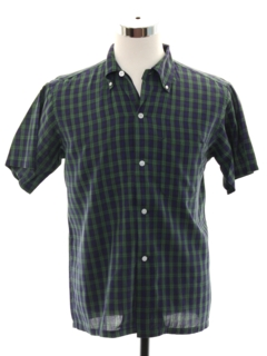 1950's Mens Mod Preppy Sport Shirt