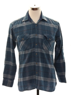 1960's Mens Wool Board Style Sport Shirt