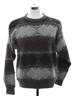 1980's Mens Amana Wool Totally 80s Cosby Style Sweater