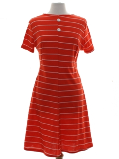 1970's Womens Mod A- Line Knit Dress