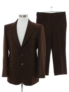 1970's Mens Western Style Three Piece Disco Suit