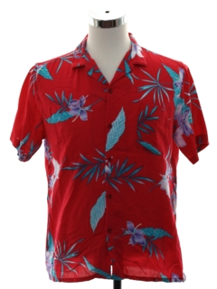 1980's Mens Totally 80s Hawaiian Style California Surf Shirt