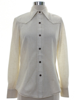 1960's Womens H Bar C Mod Western Shirt