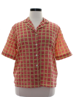 1980's Womens Rubinacci Totally 80s Print Designer Shirt