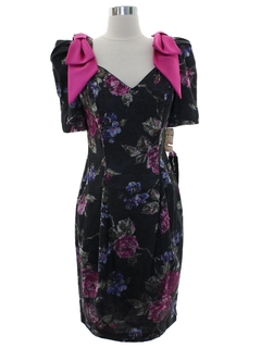 1980's Womens Totally 80s Cocktail Dress