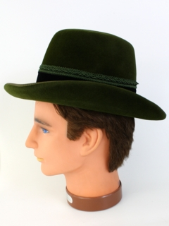 1960's Mens Accessories - Alpine Homberg Style Fedora Hat