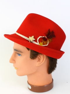 1960's Mens Accessories - Alpine Style Fedora Hat