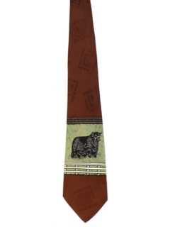 1940's Mens Wide Swing Bull Necktie
