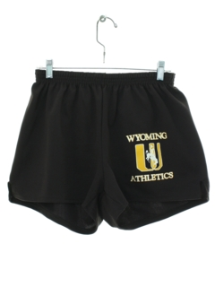 1980's Mens Wyoming Athletic Running Shorts