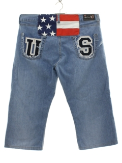 1990's Mens Patriotic Wicked 90s Denim Jeans Shorts