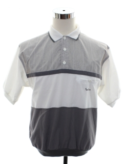 1980's Mens Totally 80s Pierre Cardin Designer Golf Shirt