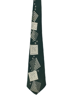 1940's Mens Abstract Geometric Swing Necktie